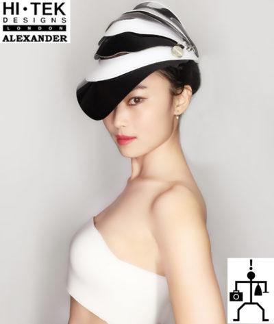 Hi Tek Alexander handmade futuristic modern futuristic, sci fi ,steampunk  unusual party eyewear mask hat
