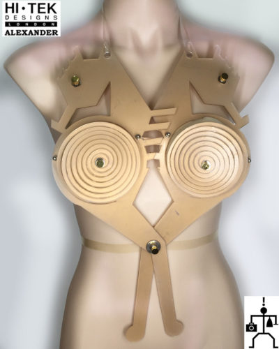 unusual body wear body accessory art wear dancewear cosplay unique steampunk Goth overbust,corset,sci fi costume,fetish cyberpunk,futuristic clothing