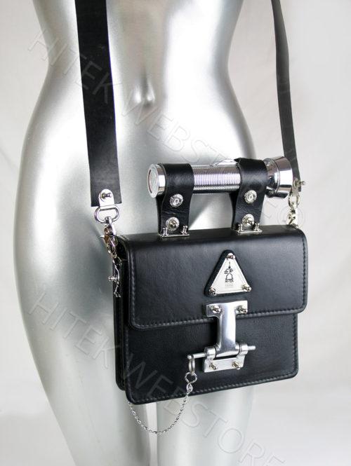 black leather crossbody bag