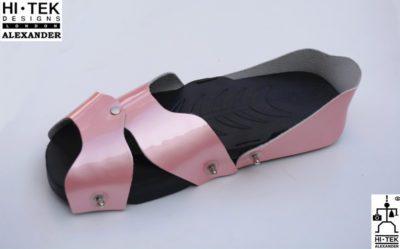 Hi Tek Alexander goth unique unusual futurisitc handmade EVA unisex beach sandal