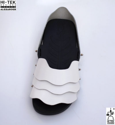 Hi Tek Alexander goth unique unusual futuristic handmade EVA  leather unisex beach sandal