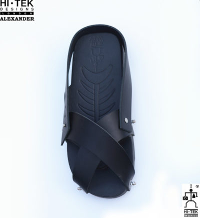 Hi Tek Alexander goth unique unusual futurisitc handmade EVA  leather unisex beach sandal