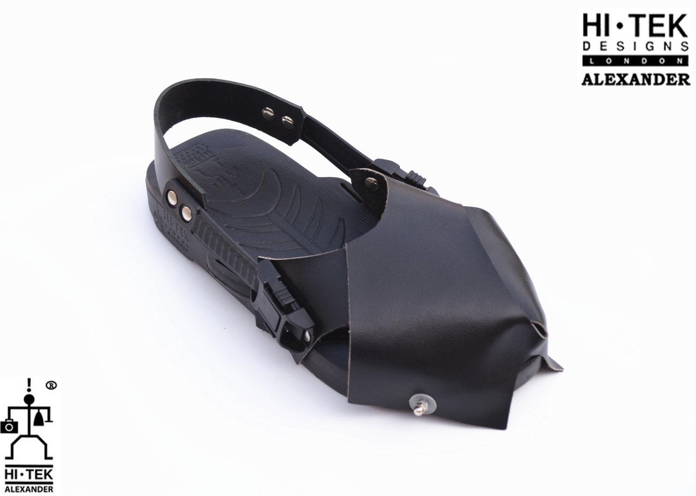 Hi Tek Alexander goth unique unusual futurisitc handmade EVA  leather unisex beach sandal