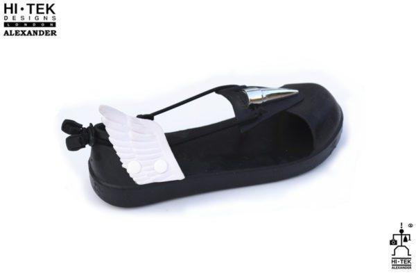 Hi Tek Alexander goth unique wing unusual futurisitc handmade unisex beach sandal