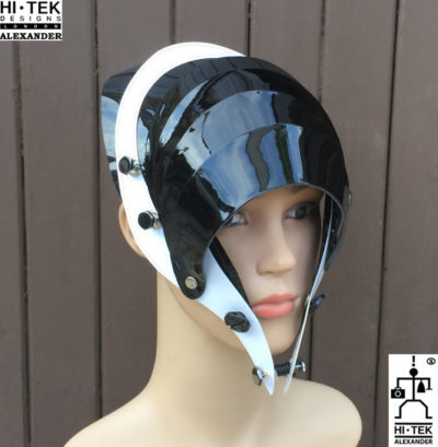 Hi Tek Alexander handmade modern futuristic, sci fi ,gothic ,steampunk unusual party eyewear alien cosplay mask hat headpiece helmet
