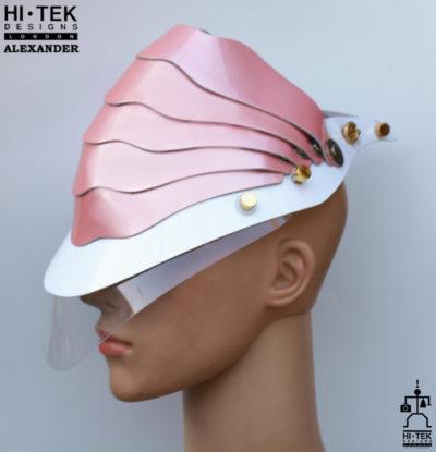Hi Tek Alexander handmade modern futuristic, sci fi ,gothic ,steampunk unusual party eyewear alien cosplay mask hat headpiece helmet