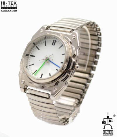 unisex wrist watch stainless steel case metal flexi strap goth steampunk retro futuristic unusual