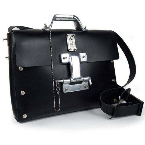 black shoulder bag for men