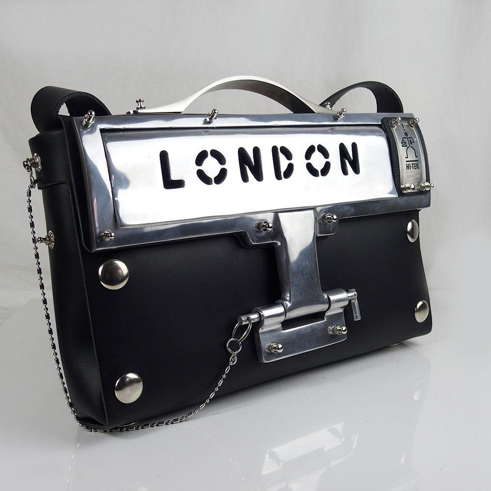 black leather shoulder bag statement bag