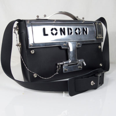 black leather shoulder bag statement bag