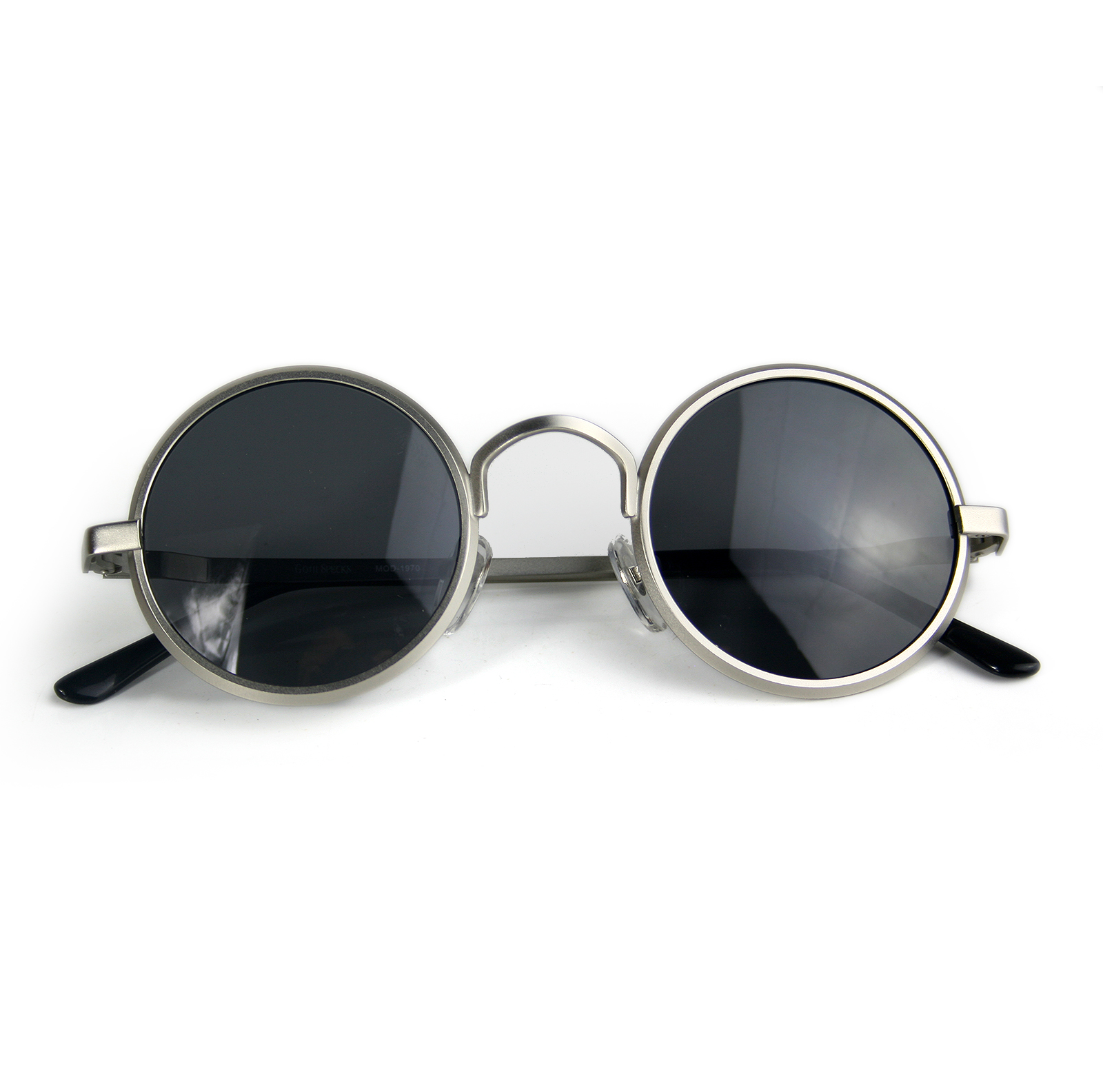 round sunglasses metal frame polarised lens
