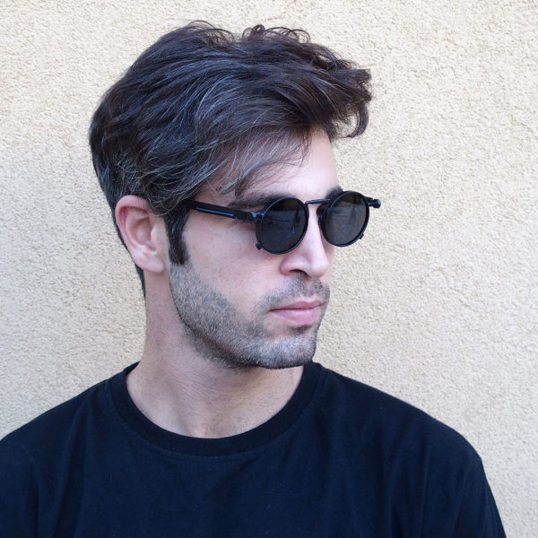 Black Round sunglasses for men