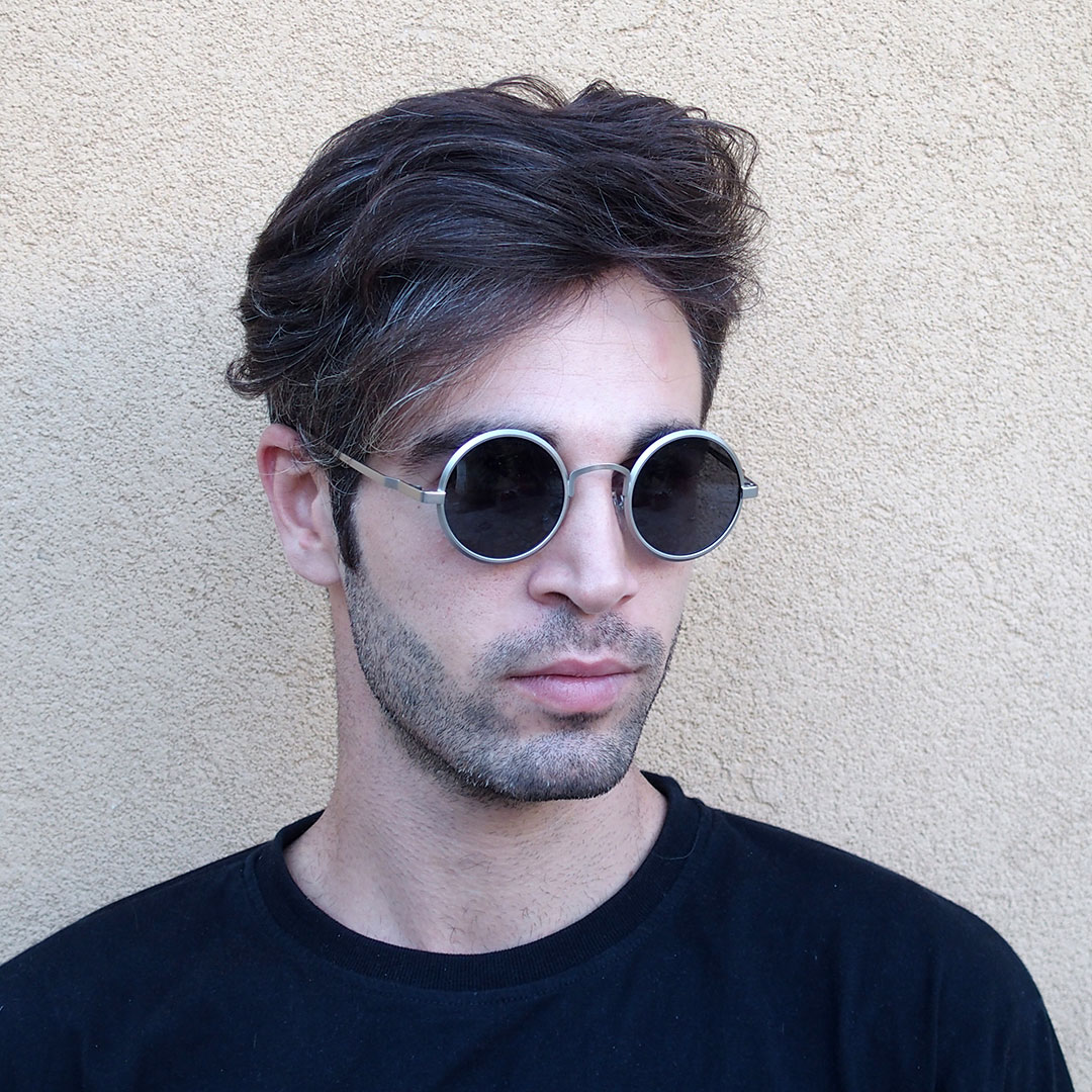 Round Sunglasses Metal Frame Polarised Lens Hi Tek Webstore