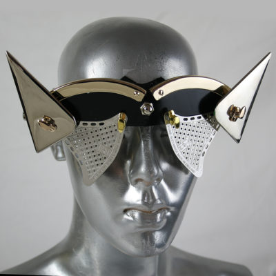 handmade futuristic modern steampunk eyewear for artists with horns