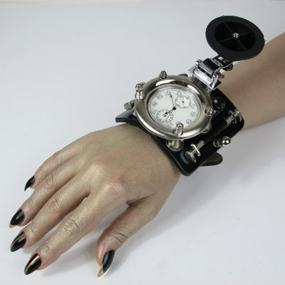SteamPunk wrist Watch huge Cuff Bracelet