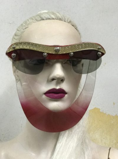 handmade mask futuristic Steampunk styling video shoot halloween art wear