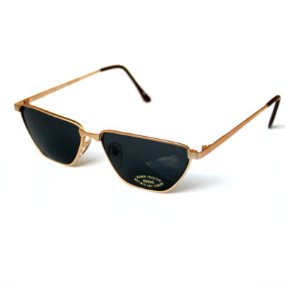 square rectangle sunglasses gold silver retro Steampunk