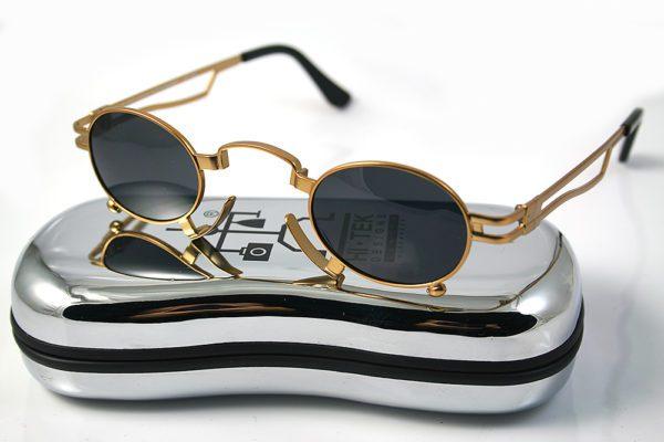 gold oval sunglasses