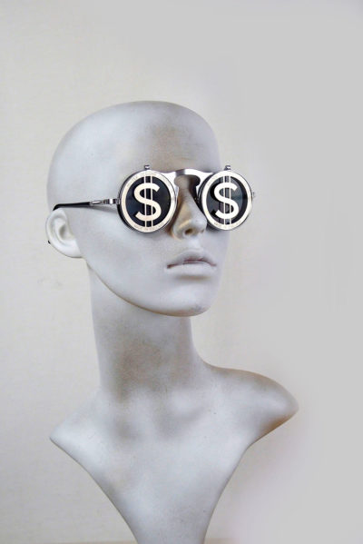 Round flip up sunglasses  vintage Goth Steampunk style Dollar