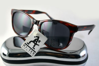 Retro Square red tortoise sunglasses 1990s Wayfarer style HT-92112