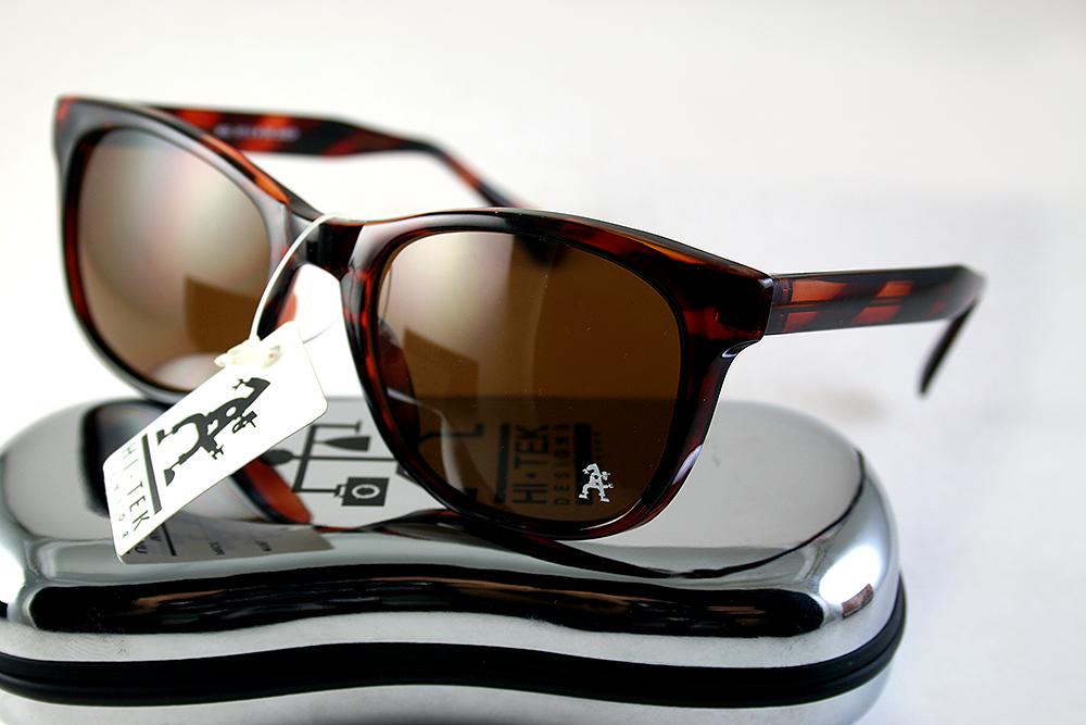 Retro Square tortoise sunglasses brown lens 1990s Wayfarer style HT-92112