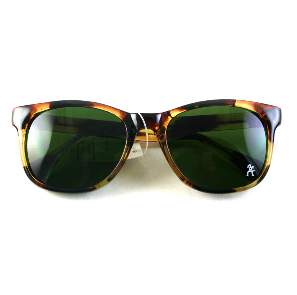Retro Square tortoise sunglasses green lens 1990s Wayfarer style HT-92112
