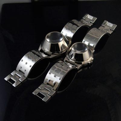 Unisex wrist watch Cyber Goth Cyber Punk style, Hi Tek Alexander vintage 1980s – 1990s era