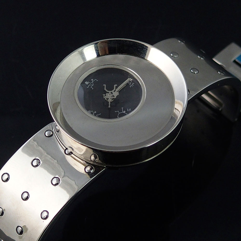 wrist watch Futuristic Goth Steampunk Cyberpunk vintage Hi Tek Alexander model Ring Camera