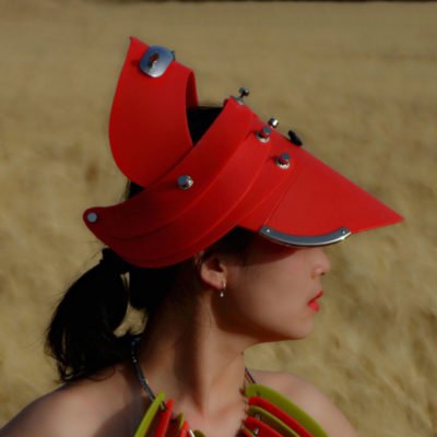 hat, head wear, head piece, unusual party cosplay costume hat, entertainment article red plastic
