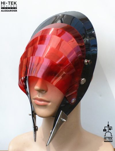 unusual head piece hat