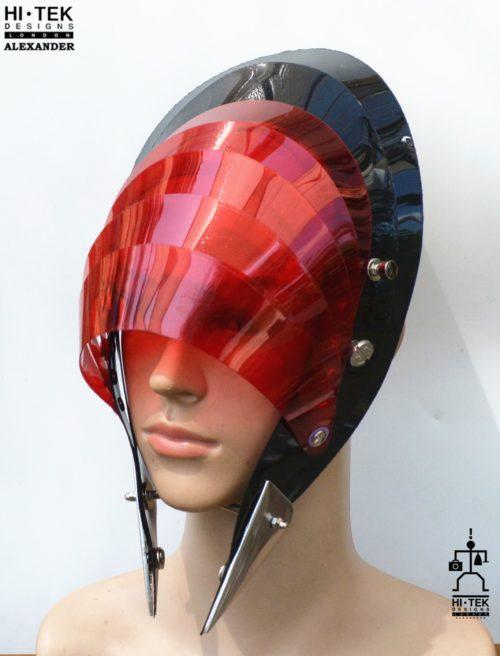 unusual head piece hat