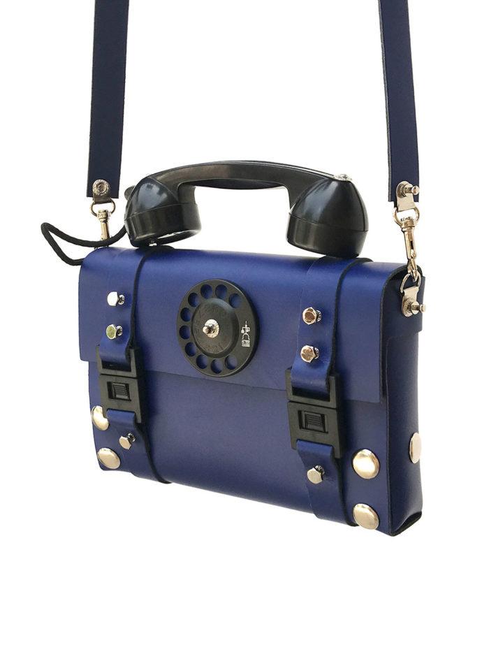 blue shoulder bag for men
