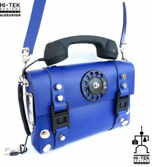 blue cross body bag