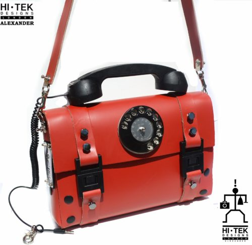 red leather shoulder bag