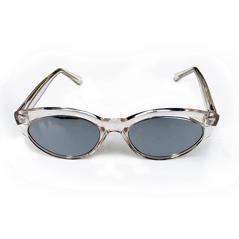 cats eye clear sunglasses vintage retro punk nos 80 u0026 39 s 90 u0026 39 s stock mirror lens