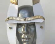 white face wear with horns