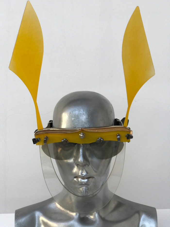 yellow mask with ears