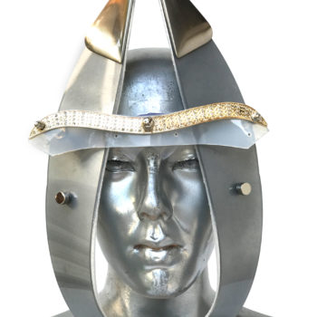 silver mask with horns