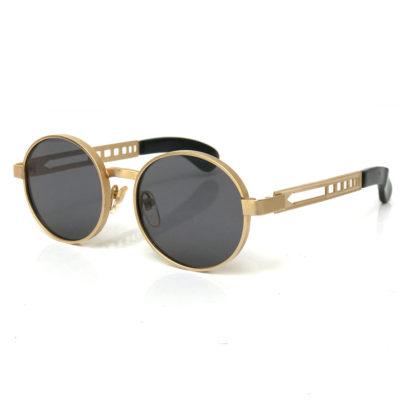 vintage round gold metal sunglasses Hi Tek HT-3002