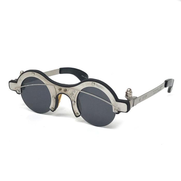 round industrieal Goth Steampunk sunglasses