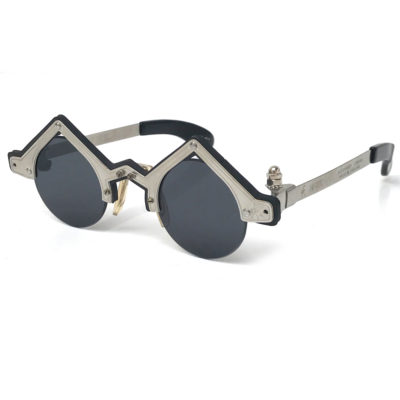 Hi Tek round silver metal sunglasses cult-6b unusual unique