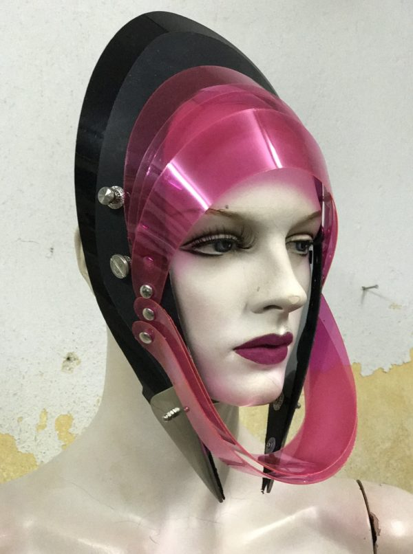 Unusual Head Wear futuristic, mask hat headpiece helmet modern Steampunk wearable art