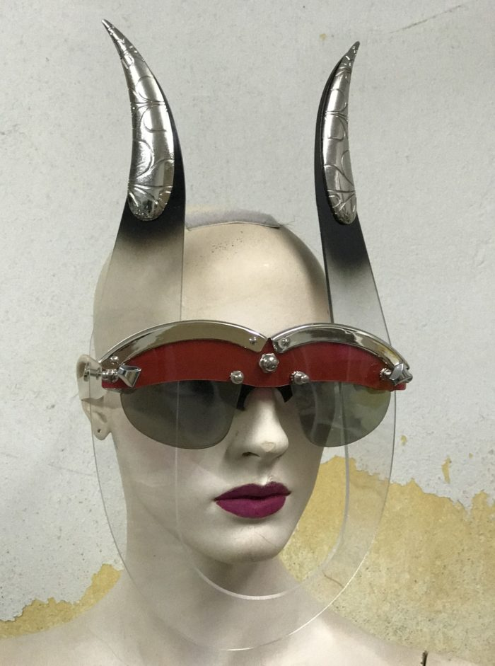 eyewear mask with horns