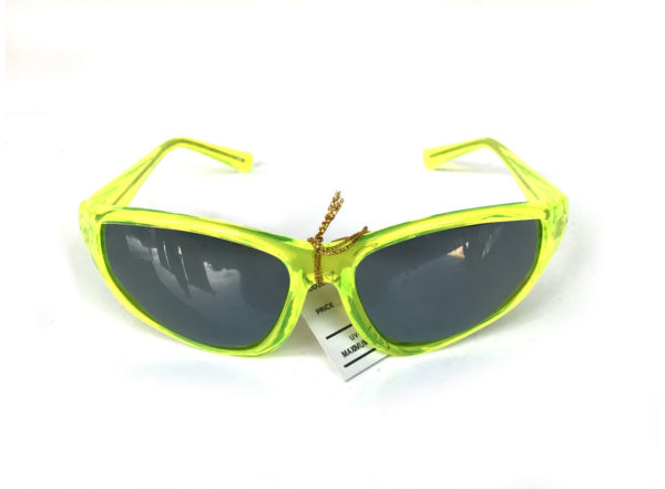 neon green goggle sunglasses