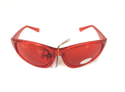 red goggle sunglasses