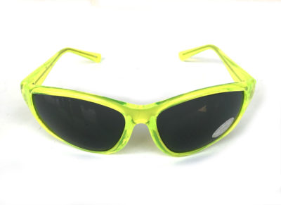 neon green lime goggles sunglasses black lens Hi Tek