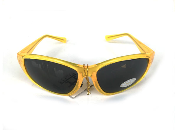 goggles sunglasses neon yellow black lens HI TEK
