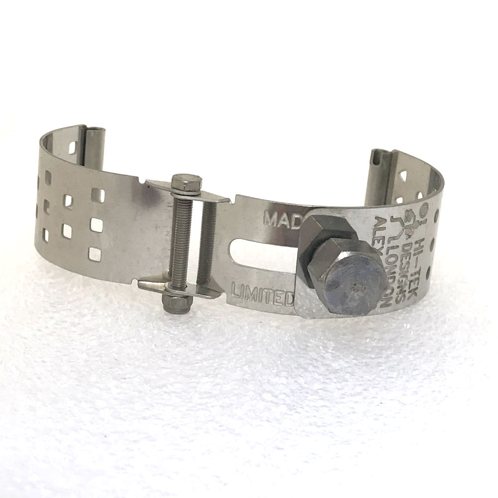 Ht Tek Alexander stainless steel watch strap unusual unique squares