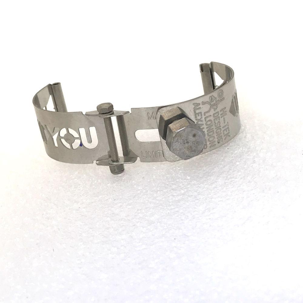 Ht Tek Alexander stainless steel watch strap unusual unique screw you