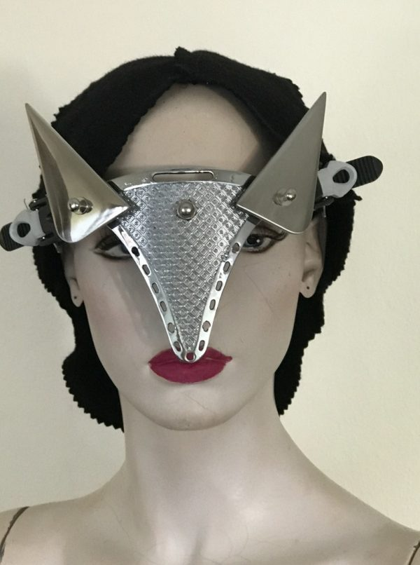 futuristic steampunk eye wear mask with horns Hi Tek